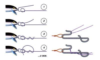 как правильно привязать воблер к основной леске
